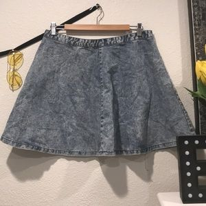Acid Wash Topshop Skirt